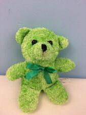 Small Stuffed Animal Bear Green Bow Tie