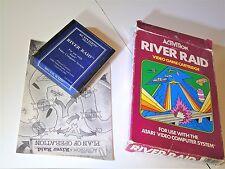Complete Atari 2600 River Raid Blue Atari 2600 Video Game System