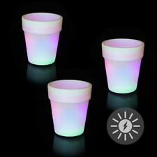 4 Stück XL LED Gartenleuchte Blumentopf Leuchte mit Farbwechsel RGB LK11-5