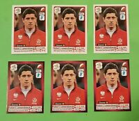 x6 🔥  ROBERT LEWANDOWSKI 🔥LOT ROOKIE PANINI EURO 2012 INVEST