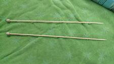 "Knitting Needles Bamboo Single Point #3 - 12.5"""
