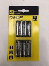"8x AAA ""AA"" marca LR03 1.5V Pilas Alcalinas pesados conveniente para mandos a distancia"