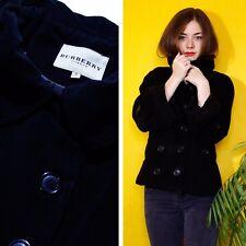 BURBERRY Women Wool Jacket Coat Black Size M-S