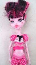 2008 Loose Monster High Dead Tired Draculaura w/ Pajamas PJS Pink & Black Hair