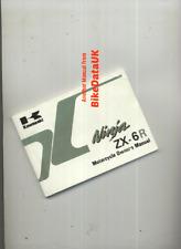 Kawasaki Ninja ZX6R J1 (2000) Original Owners Manual Hand-Book ZX 600 J 599 BZ19