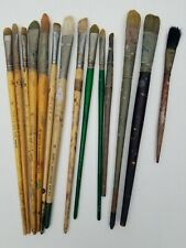 Lot of 14 Artist Paint Oil Acrylic Brushes