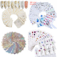 3~55pcs Various 3D Flower Water Transfer Decal Stickers For Nail Art Decoration