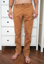GANT Men's Camel Brown Stretch Cotton Chino Pants SLIM FIT Tapered Leg Trousers