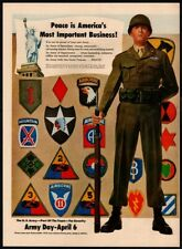 1949 ARMY DAY APRIL 6-Soldiers- Badges & Medals- AirBorne - VINTAGE AD