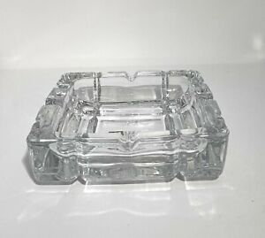 Crystal Effect Large Glass Ashtray Ash Tray Cigarette Bar Restaurant Home Office