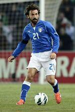 POSTER ANDREA PIRLO JUVENTUS FOOTBALL CALCIO MONDIALI BRASILE ITALIA 2014 FOTO 1