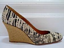 LANVIN $630 lizard print espadrille wedge heels Italian size 40 WORN ONCE