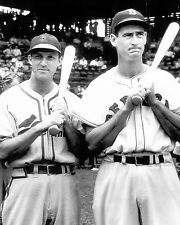 STAN MUSIAL AND TED WILLIAMS TWO ALLTIME GREAT IN ONE GREAT 8X10 PHOTO