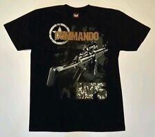 "Black ""Commando MP5"" - Hot Rock T-shirt, Both sides printed.  (L)"