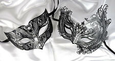 Men Women Couple Black Collection B13 Venetian Masquerade Metal Ball Party Mask