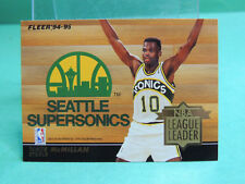Fleer'94-95 NBA League Leader Nate McMillan / John Stockton Card European LE