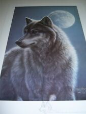 "James Meger "" Silhouette "" # 416 of 1500 $400 Value Mint Wolves"