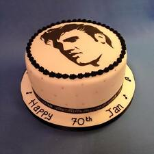 Cake Decorating stencil Elvis Head and Name set Airbrush Mylar Polyester Film