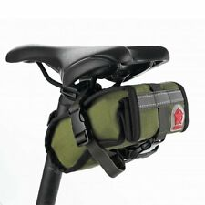 ROSWHEEL Waterproof Canvas Bike Bicycle Seat Saddle Rear Bag Cycling Tail Pouch