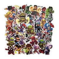 50Pcs/Lot Stickers Avengers Super Hero For Car Laptop Skatboard Decal Wall Decor