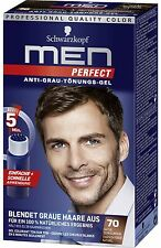 Schwarzkopf MEN PERFECT Anti-Grau Tönung Gel 70 Natur Dunkelbraun AntiGreyToner