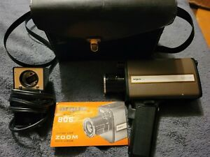 Vintage Argus 806 Super 8mmMovie Camera With Case, Manual & Light Attachment