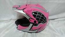 PINK WOW Spider Web L Large HJOY Motocross MX Bike Dirtbike Youth Kids Helmet