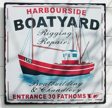 Boatyard Enamel Sign | Gift | Home Decor | Vintage Signage