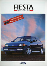 Prospectus Ford Fiesta 6/92 autoprospekt 16 p. 1993 brochure xr2i s CLX Calypso C