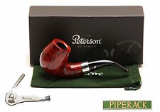 New Peterson Pipe Sherlock Holmes Professor Silver Band & P Lip Free Pipe Tool