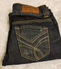 Tommy Hilfiger Denim Womens Sally Blue Wax Dark wash Jeans Sz 25 × 30 or 0 Boot