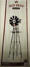 Rare Red Shed 6' Windmill Powder Coated Antique Finish Metal Decor Yard Garden