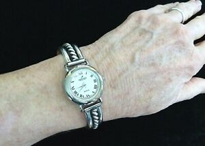 """Peyote Bird Sterling Rope Design Watch, with Toggle Clasp - Fits 5.5""""- 6.5"""" Wris"""