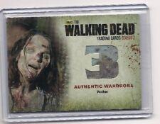 THE WALKING DEAD SEASON 3 PT 2 AUTHENTIC WALKER MEMORABILIA CARD #W9