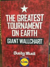 Daily Mail Football World Cup Wallchart Poster Fixture Guide Planner Russia 2018