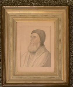 "Rare Antique J. Russell ""Earl of Bedford"" Privy Seal Hans Holbein Engraving 1828"