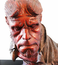 SIDESHOW LIFE-SIZE 1:1 SCALE FAUX-BRONZE HELLBOY BUST FIGURE STATUE