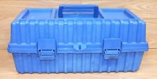 Unbranded / Generic Blue Tool Box With Top Handle And Side Latches Only **READ**