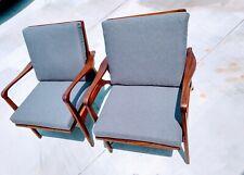 Mid Century Modern Danish Eames Pearsall Kagan Vintage Walnut Lounge Chair SET