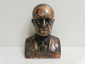 Banthrico Dwight Eisenhower Bronze Bust Bank Lincoln First Federal Savings