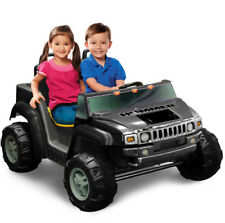 Kid Motorz Hummer H2 Two-Seater 12-Volt Ride-On Jeep Riding Toy Car in Black NEW