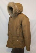 Vintage Woolrich Goose Down Winter Parka Jacket Coat XXL Fur Trim Coyote