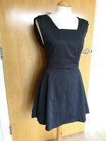 Ladies ZARA Dress Size L 12 14 Black Fit And Flare Party Smart