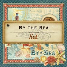 "GRAPHIC 45 ""BY THE SEA"" 12X12 PAPER COLLECTION (8 SHEETS) HTF  SCRAPJACK'S PLACE"
