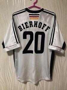 GERMANY 1998 1999 2000 ADIDAS HOME FOOTBALL SHIRT JERSEY TRIKOT #20 BIERHOF