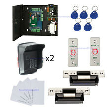 Keypad Reader & Protect Cover Double Doors Entry Systems Kits ANSI Strike lock