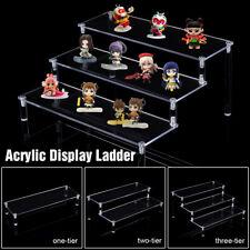 "12"" Clear Acrylic Display Stand Ladder Shelf Car Model Doll Toy Rack Show"