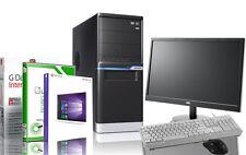 PC Quad Computer GAMER AMD Quad A10 8GB 1TB Radeon Windows 10 Pro + Monitor NEU