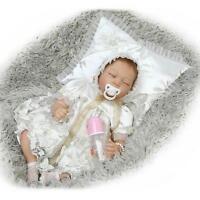 Vinyl Silicone Sleeping Reborn Doll Real Life Like Looking Newborn Baby Dolls