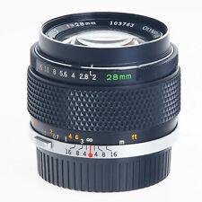 Olympus 28mm F2.0 Zuiko Wide Angle Prime Lens OM Mount